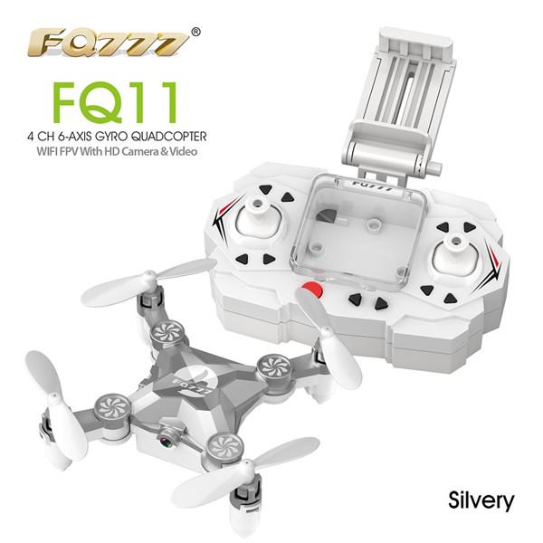 FQ777 FQ11W  Wifi FPV With Foldable Arm 3D Mini 2.4G 4CH 6 Axis Headless Mode RC Quadcopter RTF