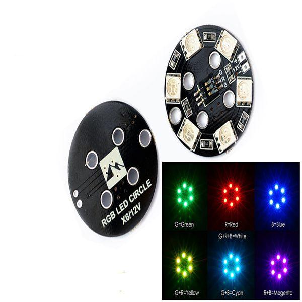 Matek RGB5050 LED X6 12V Rounded Lamp Plate 7 Colors For RC Multirotor