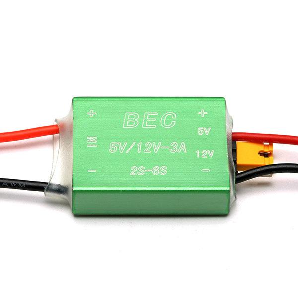 FPV 1.2G 5.8G BEC 12V 5V Free Switch CNC Shell