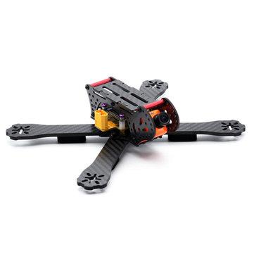 HSKRC AL220 220mm Wheelbase 4mm Arm 3K Carbon Fiber Racing Frame Kit w/ 5V 12V PDB for RC Drone