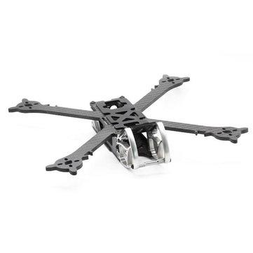 HSKRC SZ245 245mm Wheelbase 4mm Arm Carbon Fiber X Type FPV Racing Frame Kit for RC Drone