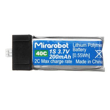Mirarobot S60 Micro FPV Racing Drone Spare Parts 3.7V 200mah 45C Lipo Battery