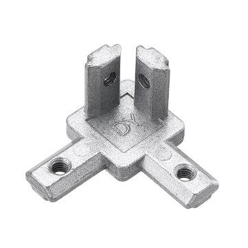 Suleve™ CJ20 T Slot 3 Way 90 Degree Inside Corner Connector Joint Bracket for 2020 Series Aluminum Profile