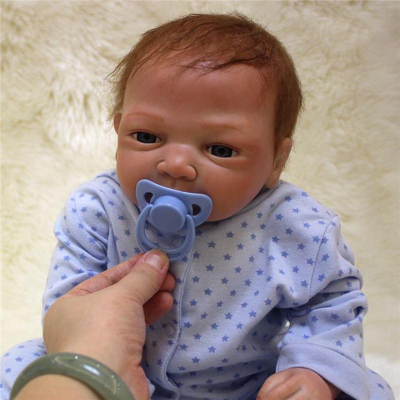 Lifelike 20'' Reborn Baby Handmade Soft Vinyl Newborn Doll Accompany Baby Toys