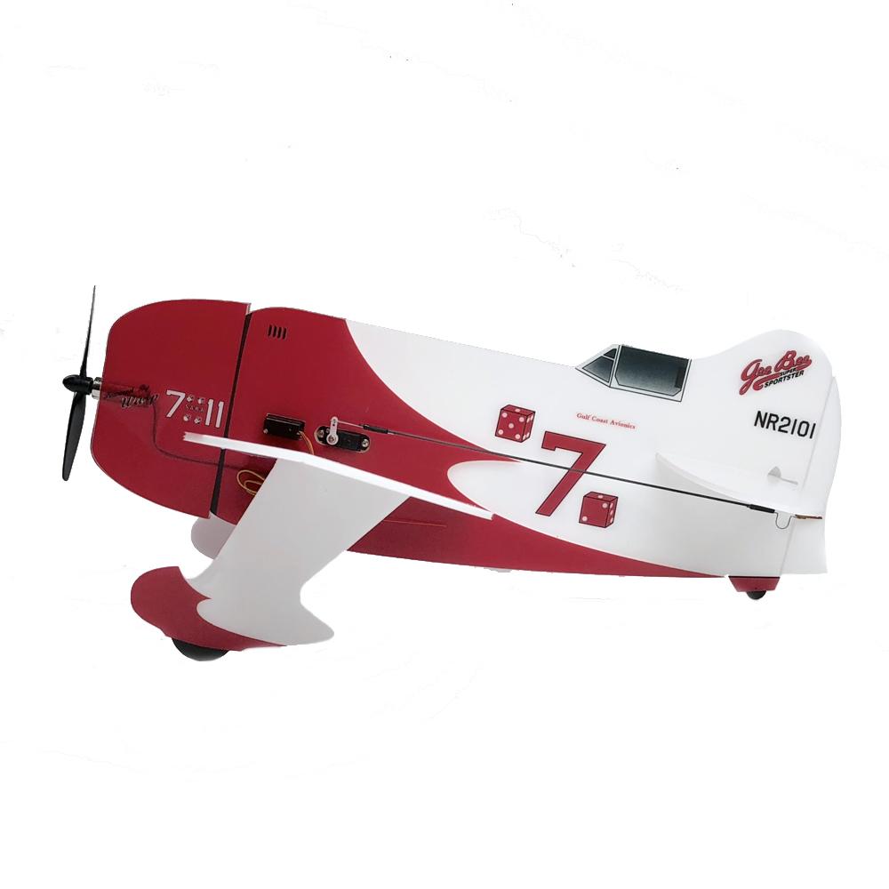 MinimumRC Geebee 360mm Wingspan Backyard Fighter Series RC Airplane Kit W/Motor And Servos