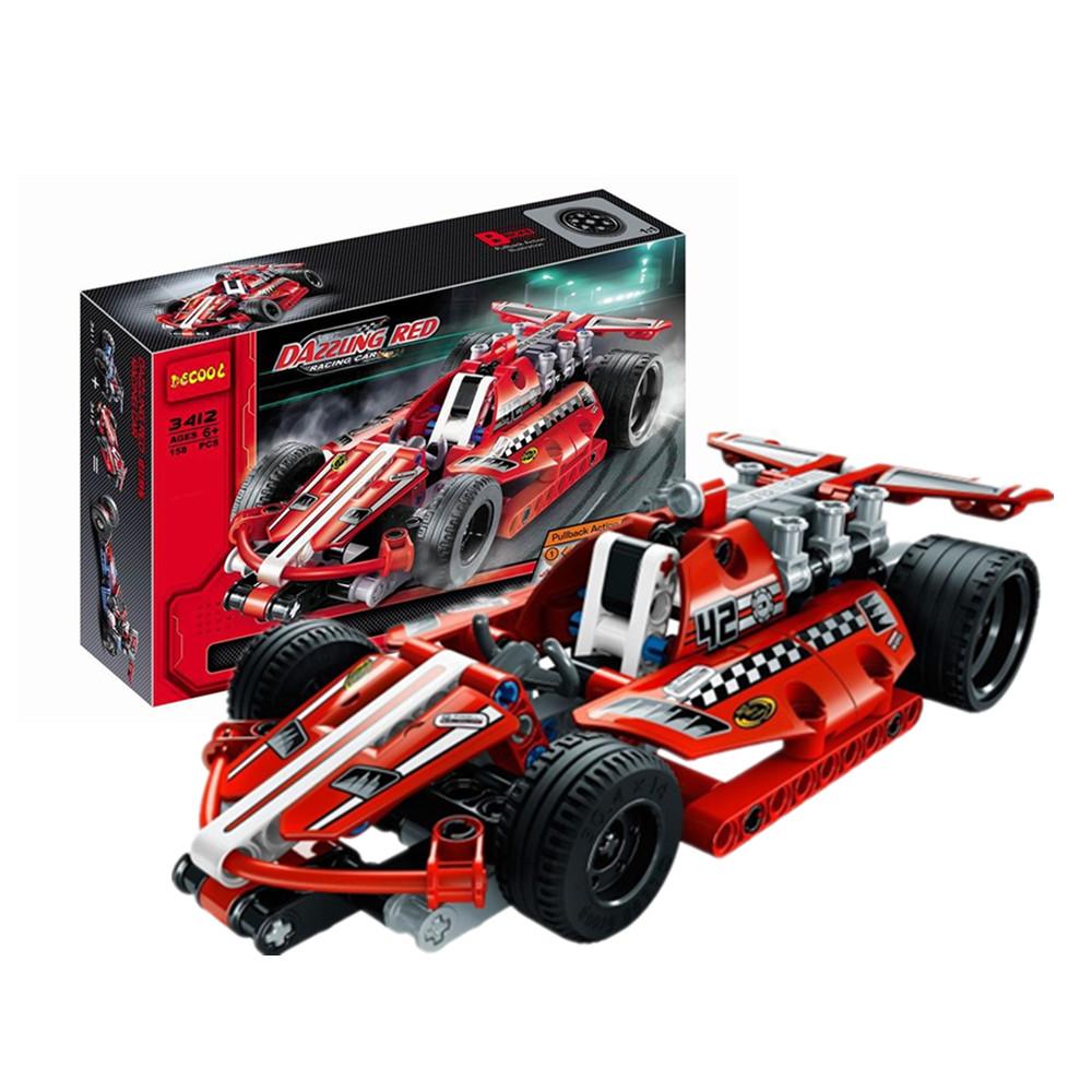 DECOOL 3412 Technic Racing Car 158PCS Building Blocks Toy Sets For Kids Model Toys