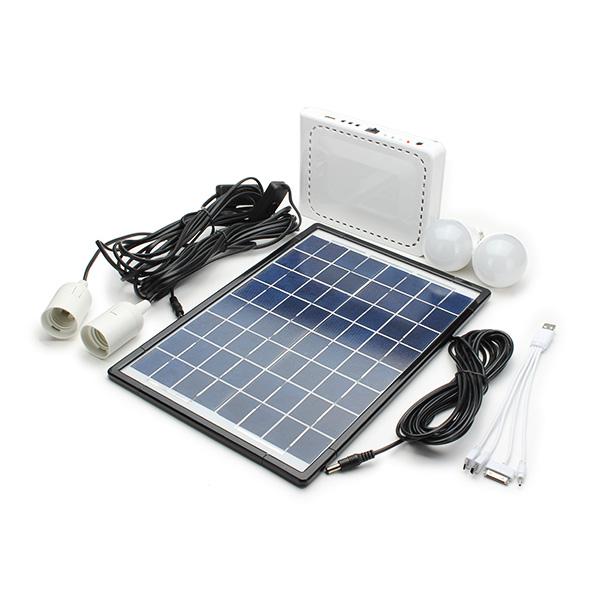 10W Lithium Battery Solar Powered Lighting System