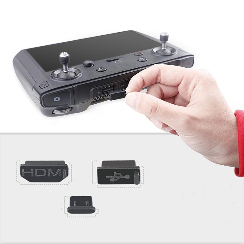 RCGEEK Silicone Dustproof Dust Plug Cover HDMI/USB/Type-C Interface 3Pcs for DJI Mavic 2 Smart Controller
