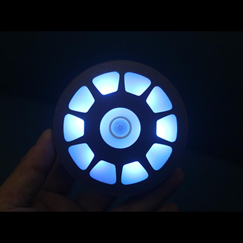 MK Arc Reactor Induction Infrared Sensing Night Light Refrigerator Magnet Desk Lamp Tony Stark Toys