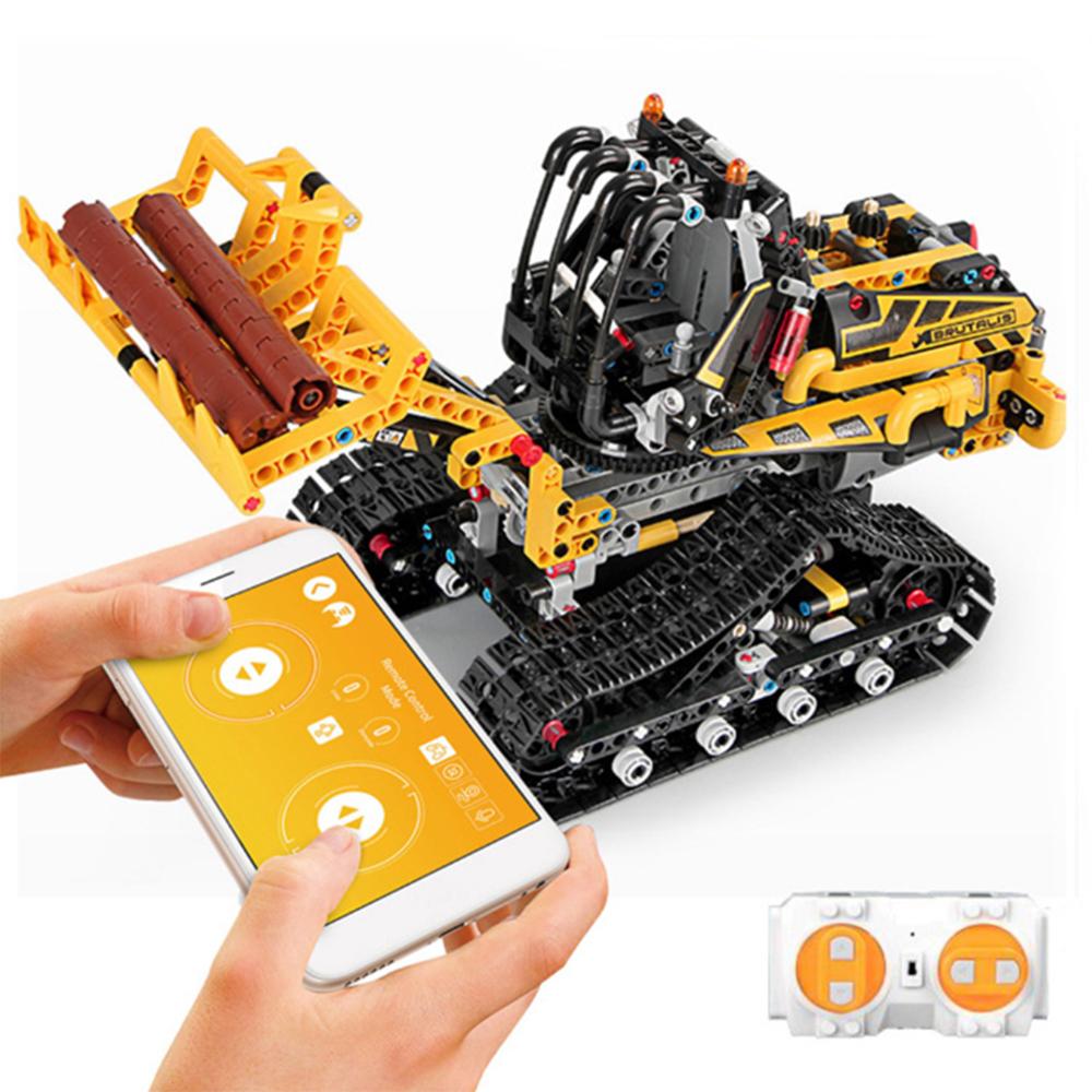 MoFun DIY 2.4G Block Building Programmable APP/Stick Control Voice Interaction Smart RC Robot Car