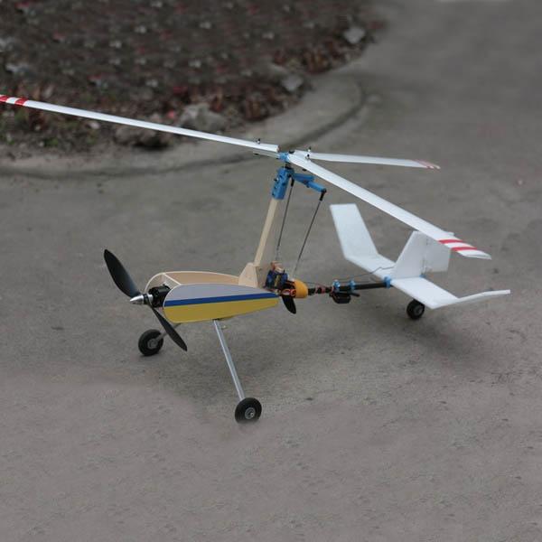 New Luobo V2S Dual Operation Autogyro Gyroplane Airplane Model KIT