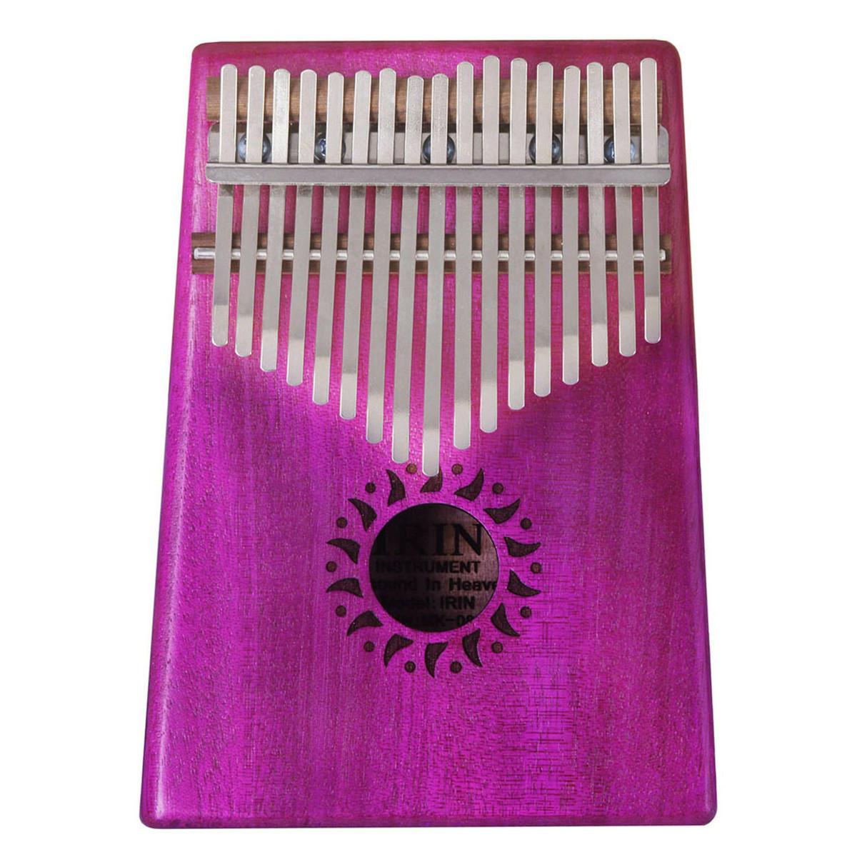 IRIN 17 Keys Mahogany Kalimba Wooden Thumb Piano Finger Percussion