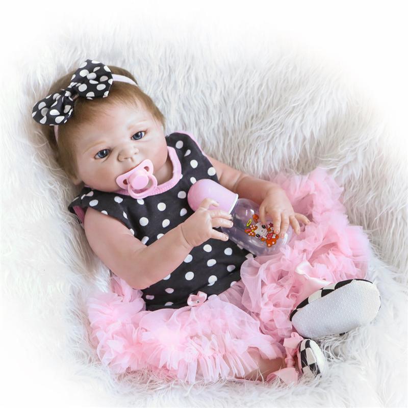 "23 Handmade Silicone Reborn Girl Body Lovely Dolls Newborn Baby Vinyl Toys"""