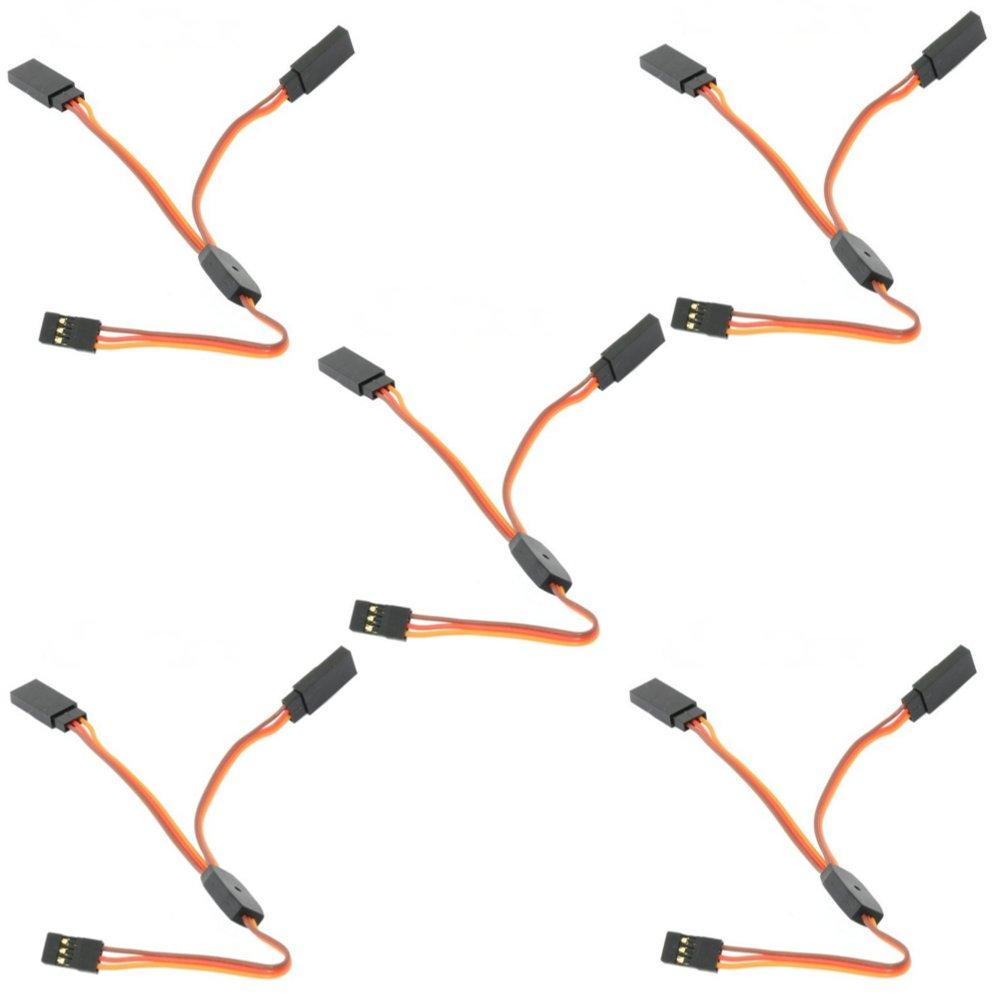 5PCS Amass 30cm Y Servo Cable Lead Splitter For JR Spektrum HITEC