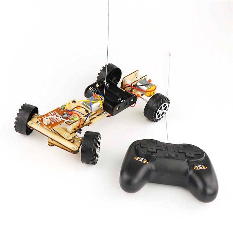 DIY Educational Electric Remote Control Robot Car Scientific Invention Toys