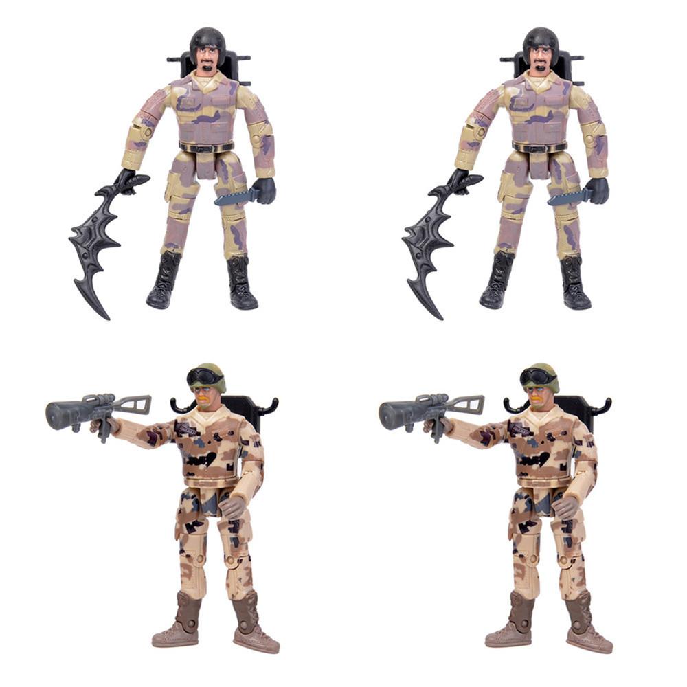 4PCS WPL B36 JJRC Q65 MN-90 Subotech BG1522 Simulating Military Action Figure Soldier Doll 10cm Rc Car Parts