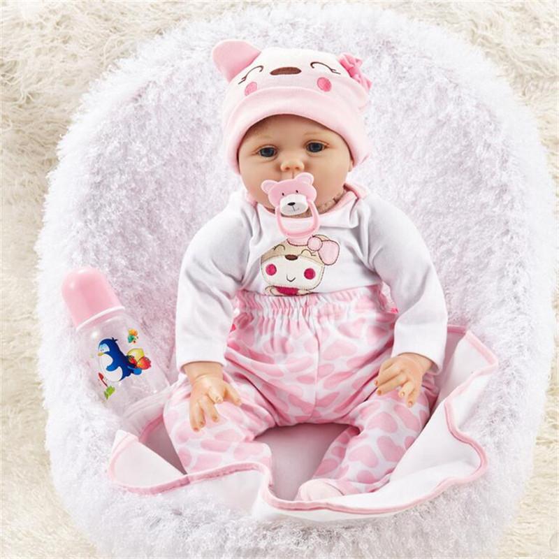 "NPK DOLL 55cm Soft Silicone Doll Reborn Baby 22 Toy For Girls Newborn Girl Baby Birthday Gift"""