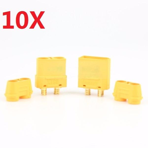 10 Pair Amass XT90+ Plug Connector Male & Female With Sheath
