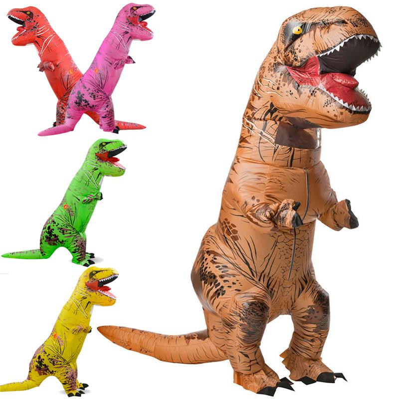 Inflatable Toys Dinosaur Halloween Costume Adult Jurassic World Park Blowup Fancy Dress Suit