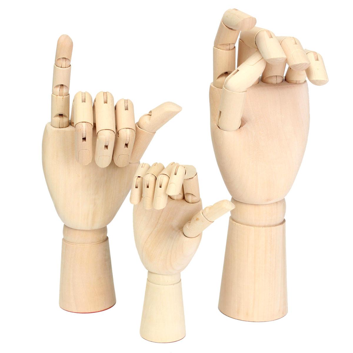 Wooden Artist Articulated Right Hand Art Model SKETCH Flexible Decoration