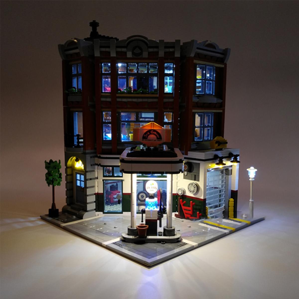 LED Light Lighting Kit ONLY For LEG_O 10264 Corner Garage Vehicle Maintenance Station Blocks Toy