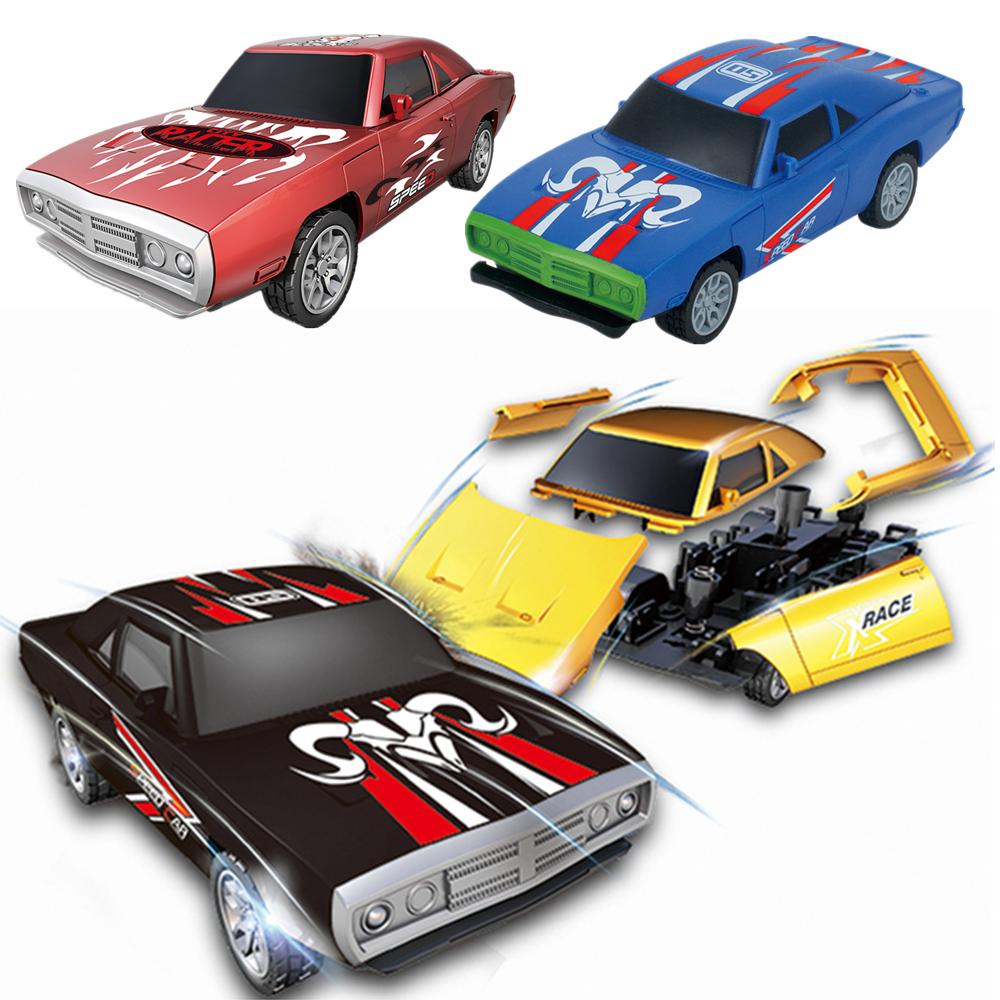 1PC BURST Crush Rebuilt Racing Car Multi-pattern Pullback Collision Function Elegant Model Assembled Novelties Toys