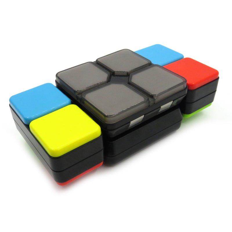 Electric Speed Magic Cube PVC Sticker Block Puzzle Sugar Color