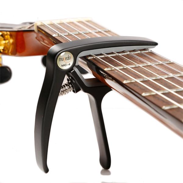 Musedo MC-4 Soft Silica Metal Quick Change Key Capo for Classical Folk Guitar