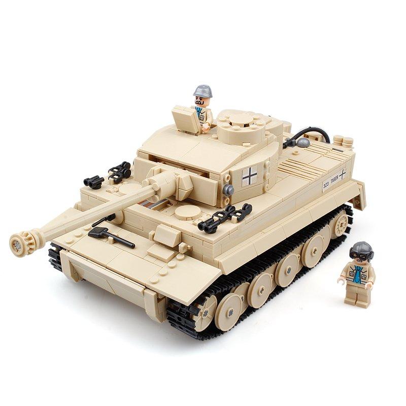 Kazi 995Pcs German Tiger Tank Building Blocks Toys Educational Gift #82011 Fidget Toys