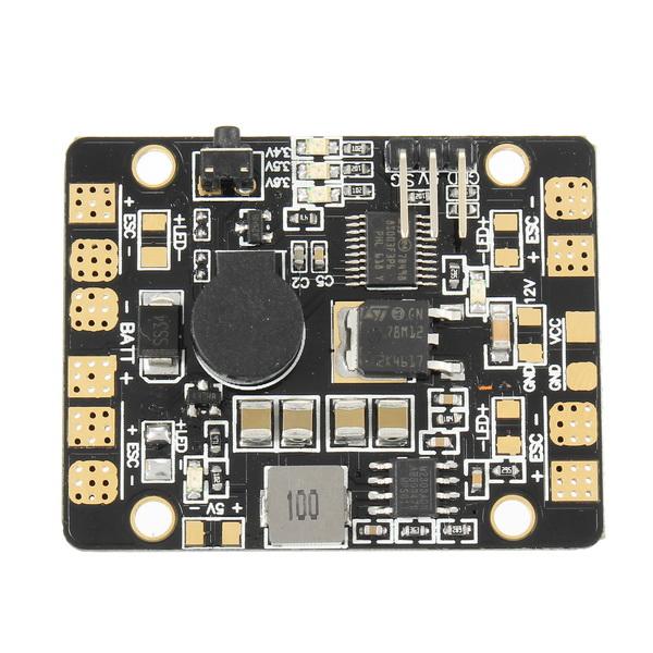 5 in 1 V3 PDB LED Power Hub 5V 12V Dual BEC Low Voltage Buzzer Tracker For FPV Racer