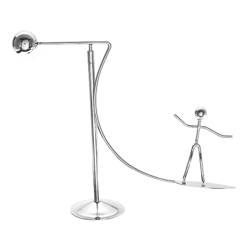 Newton's Cradle Metal Dynamic Balancing Instrument Doll Man Figure Model