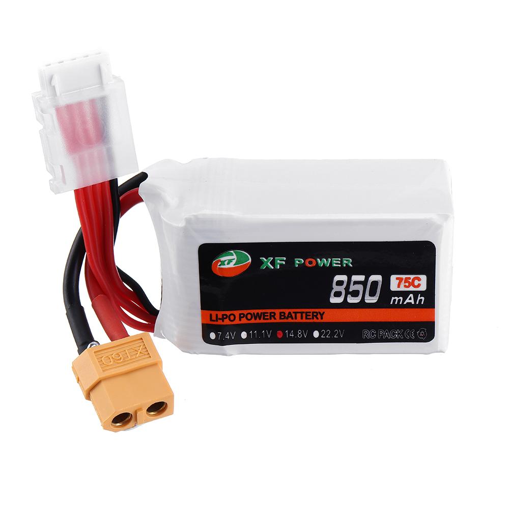 XF POWER 14.8V 850mAh 75C 4S Lipo Battery XT60 Plug for RC Racing Drone