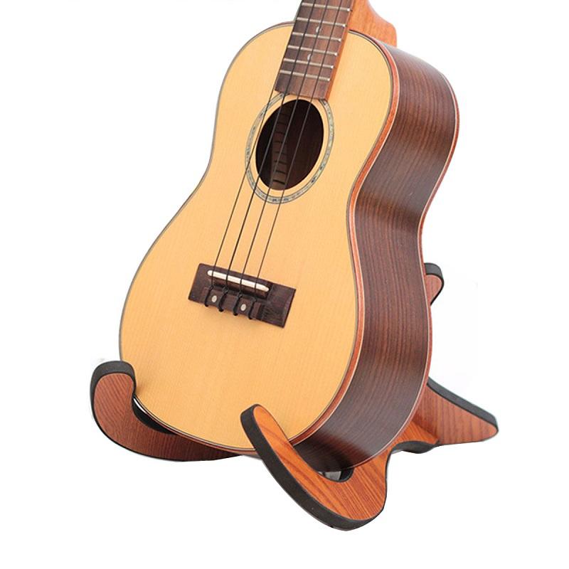 Wooden Collapsible Foldable Stand Holder For Guitar Ukulele Violin Mandolin Banjo