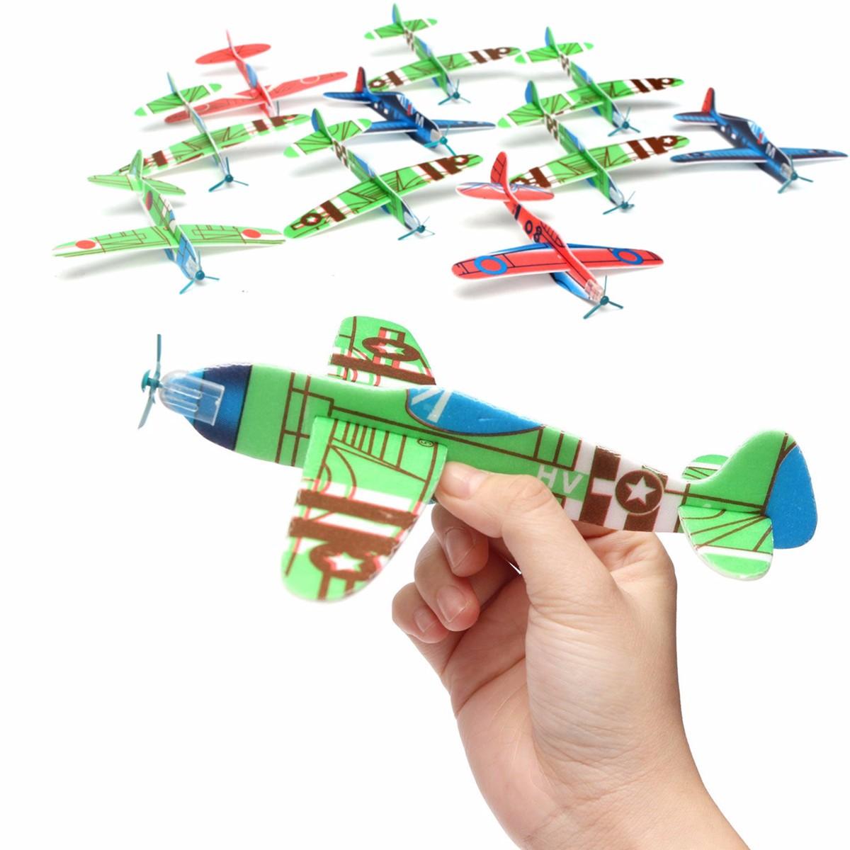 10Pcs Banggood Flying Glider Plane Toy Gift Birthday Christmas Party Bag Filler