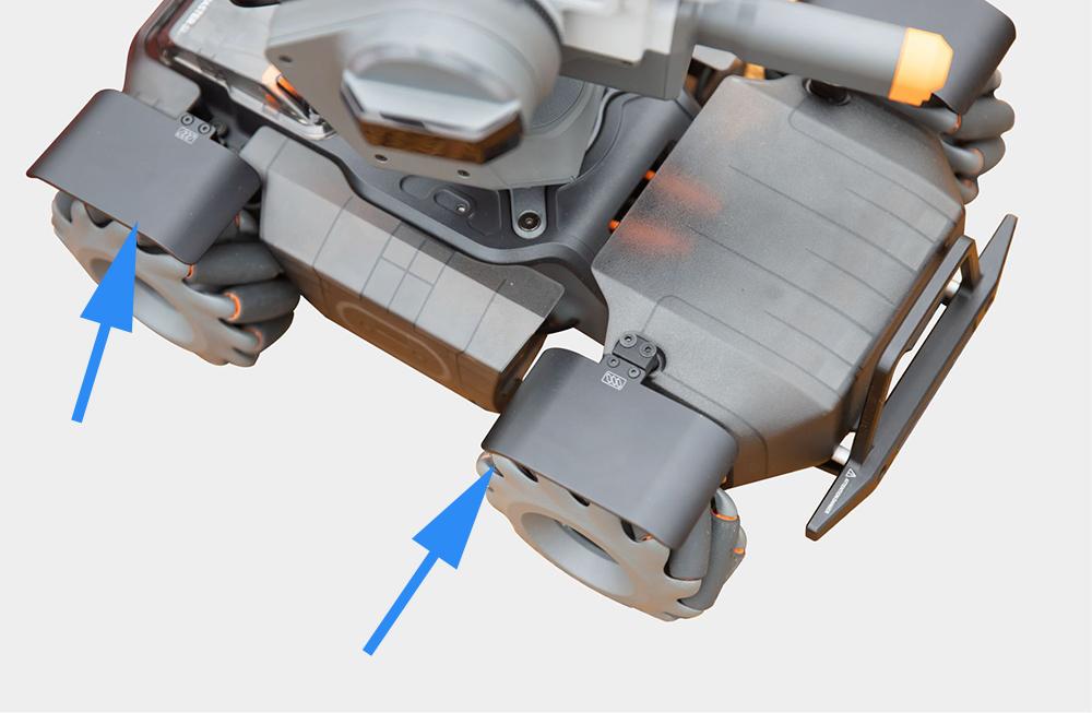 CNC Wheel Splash Guard Fender For DJI RoboMaster S1 RC Robot