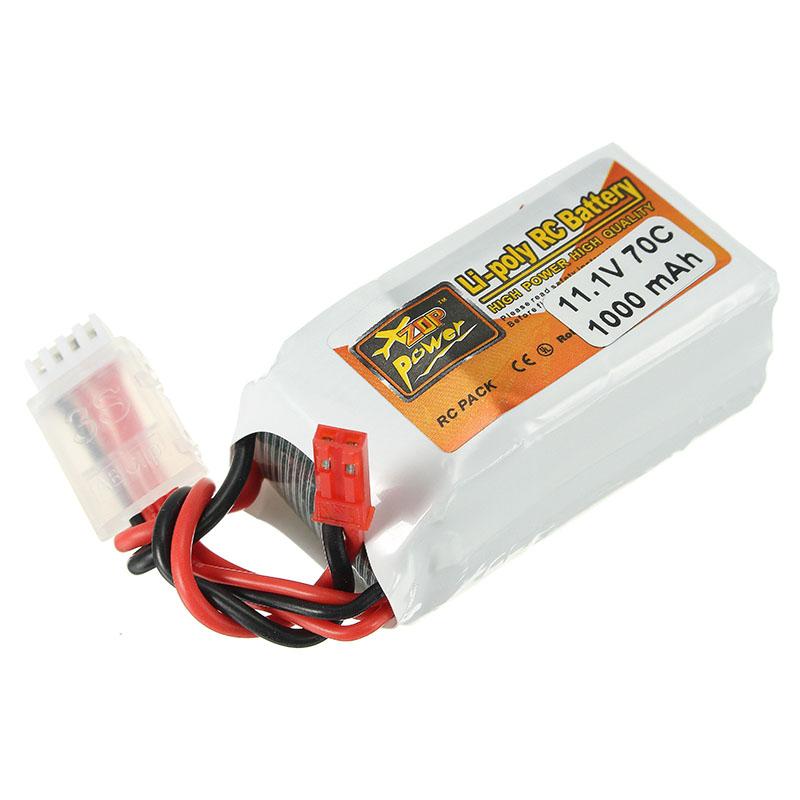 ZOP Power 11.1V 1000mAh 70C Lipo Battery JST Plug