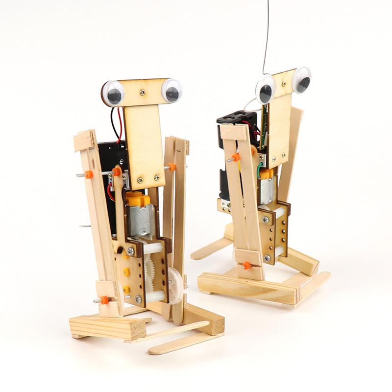 DIY Educational Remote Control Walking Robot Scientific Invention Toys