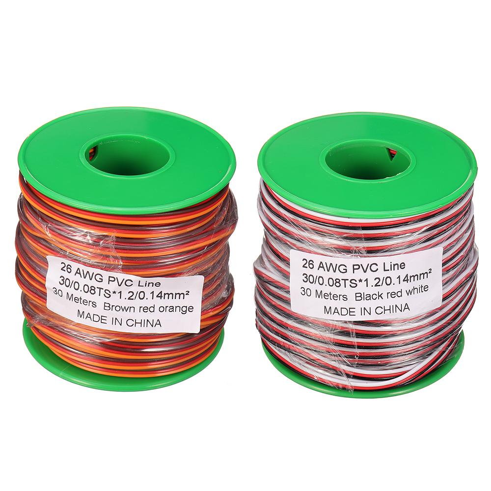30m 26AWG Soft Silicone Servo Cable Wire High Temperature Tinned Copper Flexible Wire