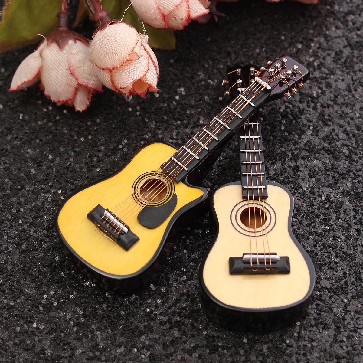 1/12 Scale Dollhouse Miniature Guitar Accessories Instrument DIY Part For Dollhouse