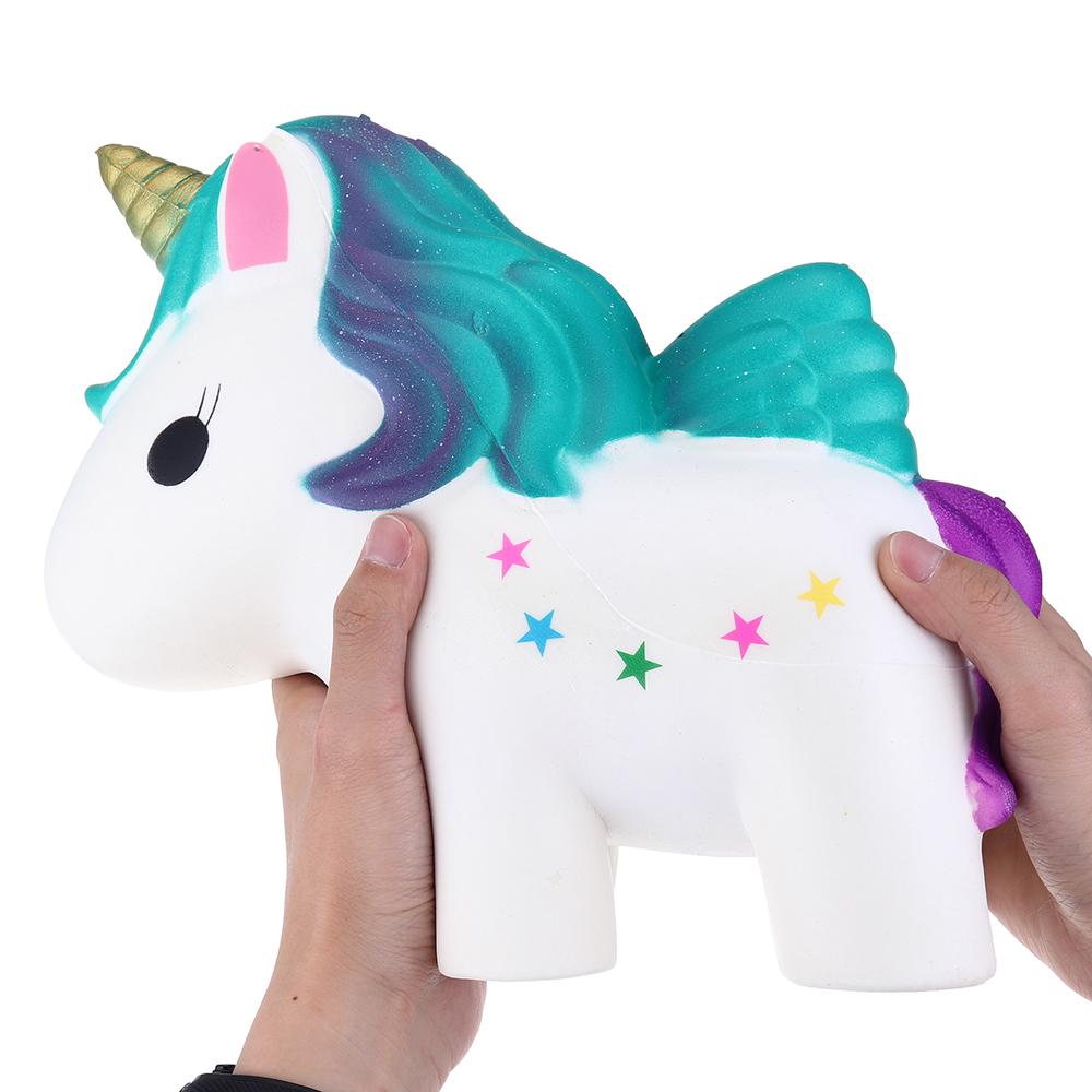 Huge Squishy Unicorn Horse 30CM Giant Humongous Animal Jumbo Slow Rising Collection Soft Toys With Free Gift